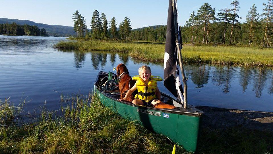 En som var på sin første kanotur. GØY!
