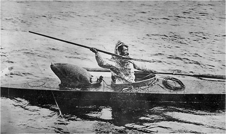 Inuitt ute på jakt.