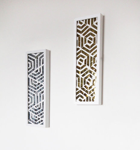 Golden & Silver Maze Wall Accent (Set of 2)