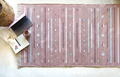 The Raya Rug (Dusty Rose)