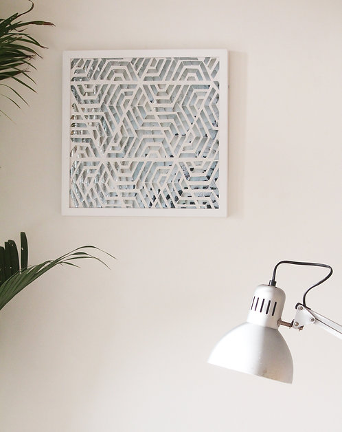 Silver Maze Wall Accent