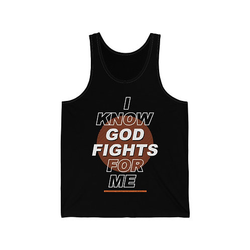 God Fights For Me Unisex Jersey Tank