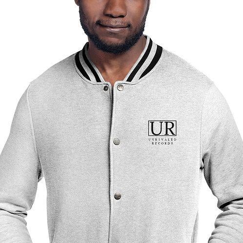 Unrivaled Records Embroidered Champion Bomber Jacket