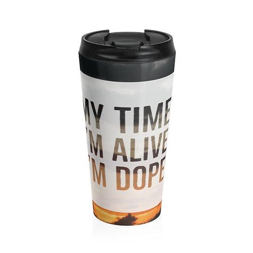 """My Time"" Stainless Steel Travel Mug"