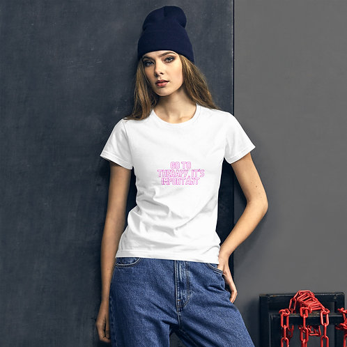 'Go to therapy' - Women's Tee