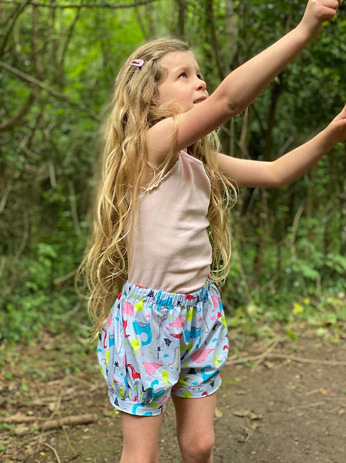 Girls Dinosaur Bloomer Shorts