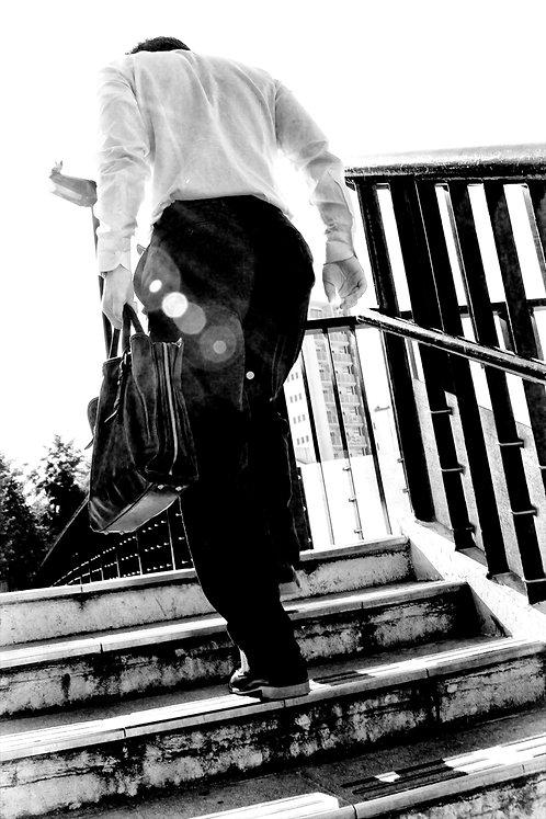 Tokyo Man on Stairs