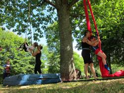 Teaching under the oak tree