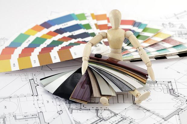 wooden man, a palette of colors designs