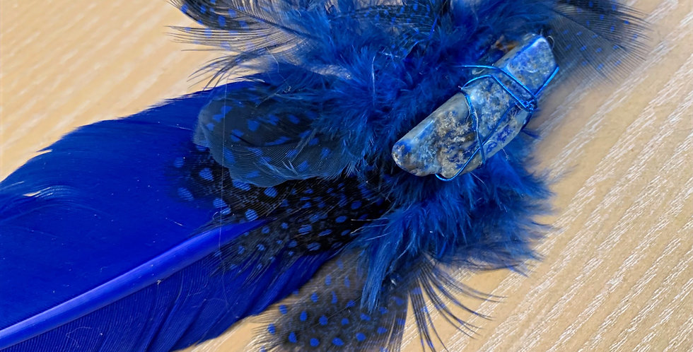 Blue Smudging Feather