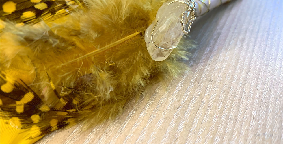 Yellow Smudge Feather