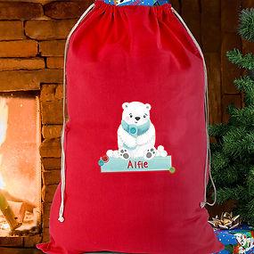 Personalised Polar Bear Sack