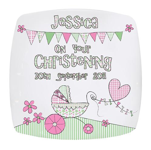 Jessica Christening Plate