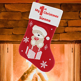My First Personalised Christmas Stocking