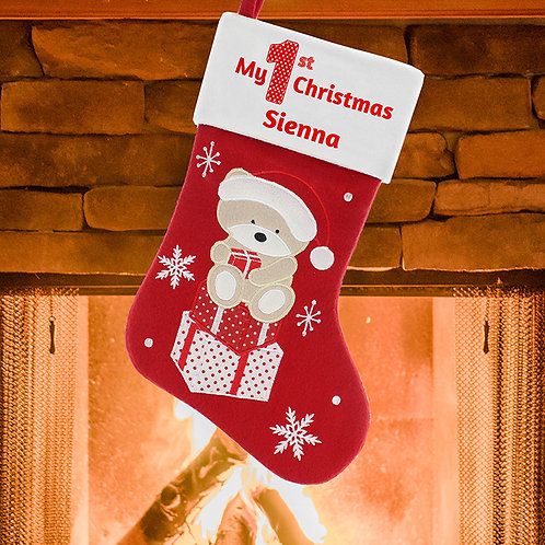 My First Christmas Teddy Stocking
