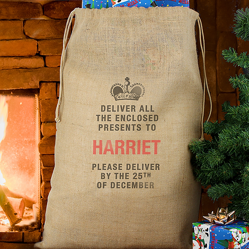 Deliver Presents to... Jute Sack