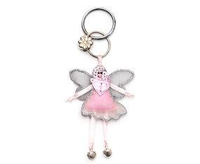 Fairy keyring light pink