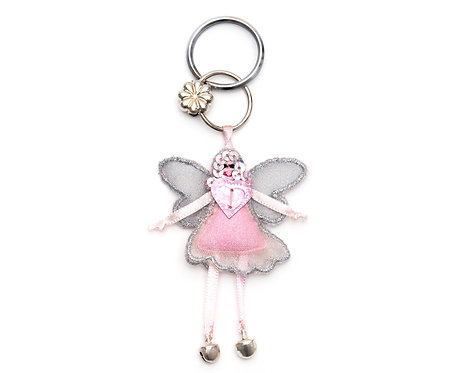 Fairy Keyring Light Pink
