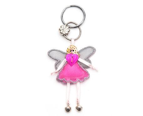 Fairy Keyring Dark Pink