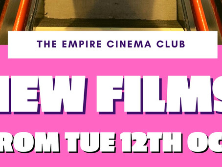 New Films showing from Tuesday 12th October 2021