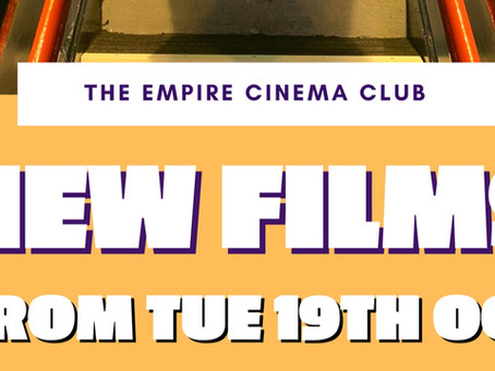New Films showing from Tuesday 19th October 2021