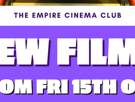 New Films showing from Friday 15th October 2021