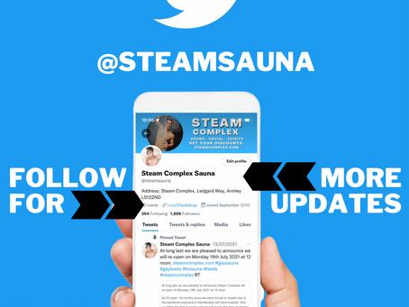 Follow Steam Complex on Twitter @steamsauna