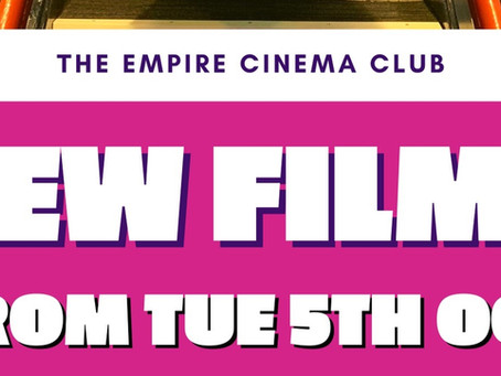 New Films showing from Tuesday 5th October 2021