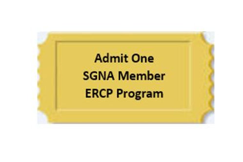 Optional ERCP Program: SGNA Member:  $40.00