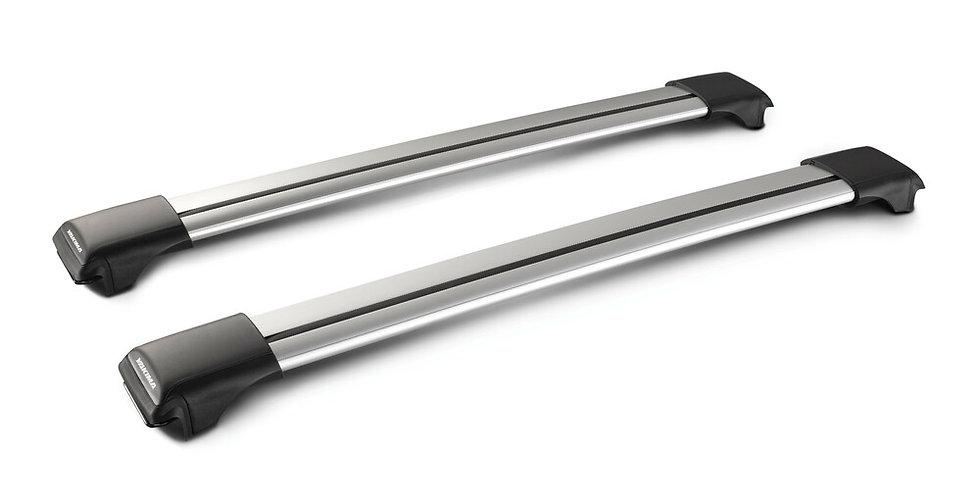 Rail, coppia barre portatutto in alluminio