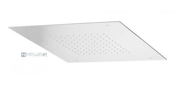 Soffione a soffitto quadrato con nebulizzatore, cascata e cromoterapia