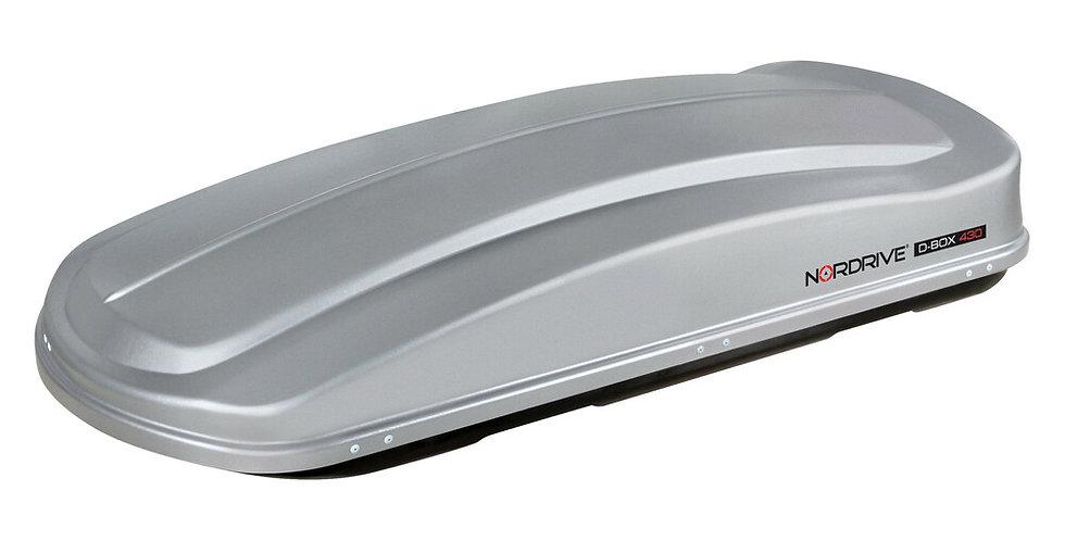 Nordrive box tetto 430 in ABS   - Argento lucido