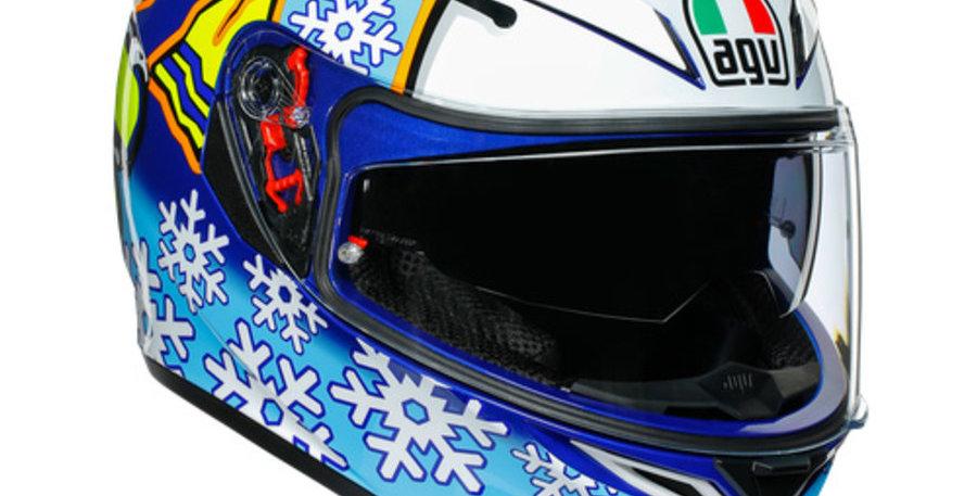 Casco Integrale Agv K3 SV Rossi Winter Test 2016