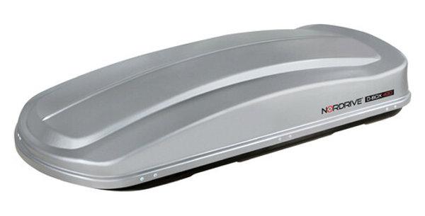 Nordrive box tetto in ABS 430 Doppia Apertura   - Argento Lucido