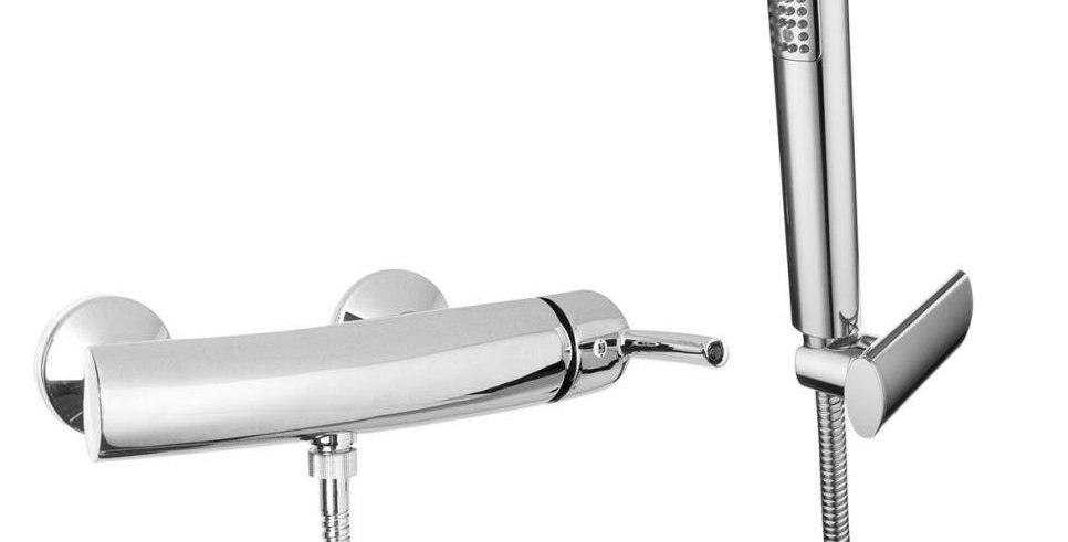 Monocomando doccia esterno con kit doccia