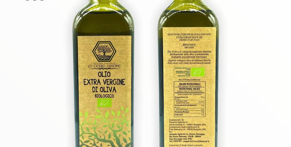 Olio Extravergine d'oliva Biologico Certificato Lt. 0,750
