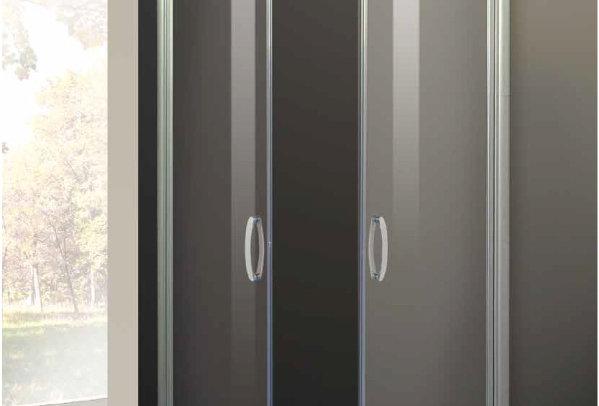 Box doccia semicircolare - cristallo temperato trasparente 6 mm.
