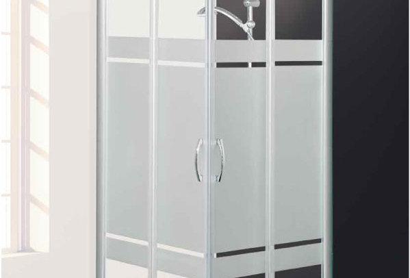 Box doccia ad angolo - cristallo satinato
