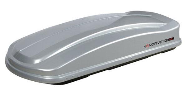 Box tetto in ABS, 530 litri - Doppia Apertura - Argento Lucido