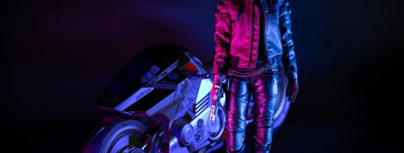 CYBERPUNK 2077 V FEMALE 1/6 AF +BIKE BUN