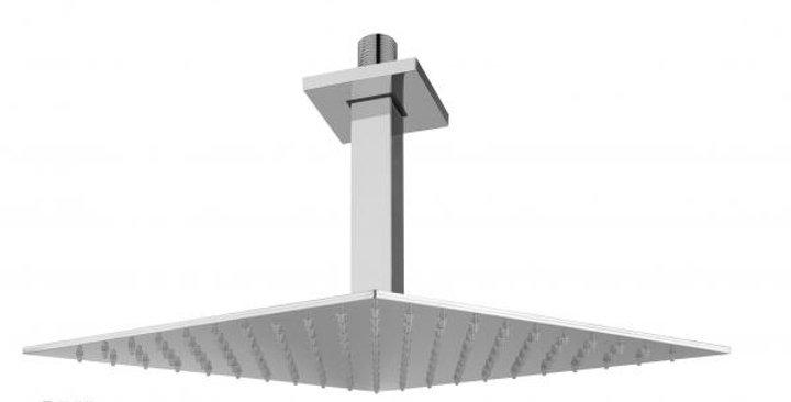 Braccio doccia a soffitto con soffione 200×200
