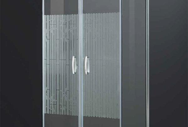Box doccia - cristallo temperato  satinato 6 mm.