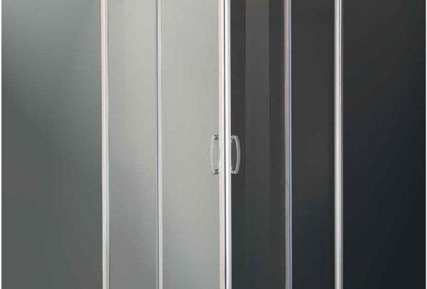 Box doccia ad angolo - cristallo temperato  satinato 6 mm.