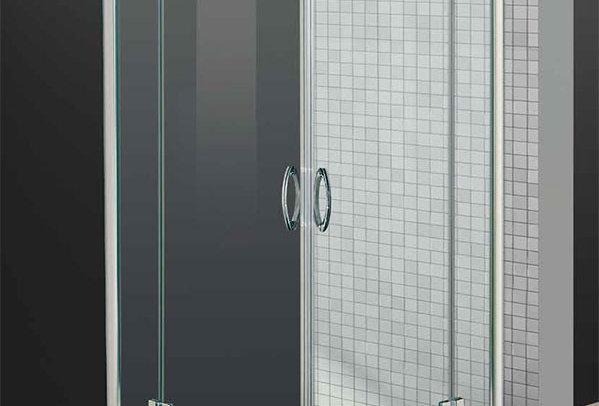Box doccia ad angolo - cristallo sabbiato
