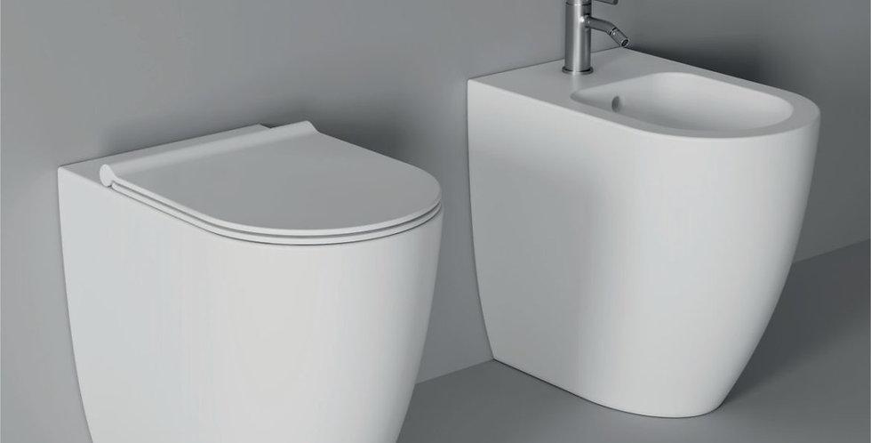 Form Vaso H50 senza brida + Bidet  H50