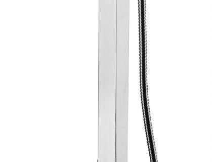 Monocomando vasca a pavimento con kit doccia