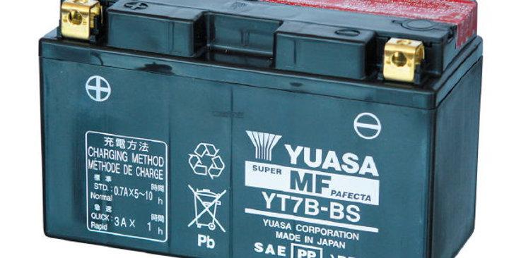 BATTERIA YUASA YT7B-BS (SIGILLATA CON ACIDO A CORREDO) 12V/6,5AH