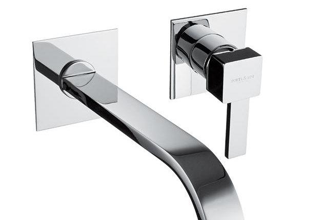 Monocomando lavabo a muro due parti canna mm 200