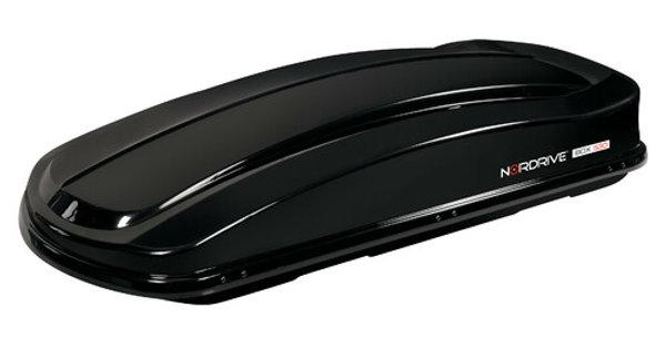 Nordrive Box tetto in ABS, 630 litri Doppia Apertura - Nero Lucido