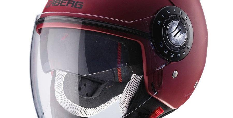Casco Jet Demi Jet Caberg Riviera V3 - Rosso